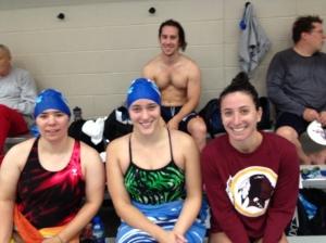 Ellen, Brittany, Rachel and coach Dan