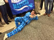 Coach Dan rocking the snowflake suit...
